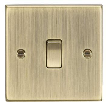 Antique Brass Light Switch - Single 1 Gang 2 Way