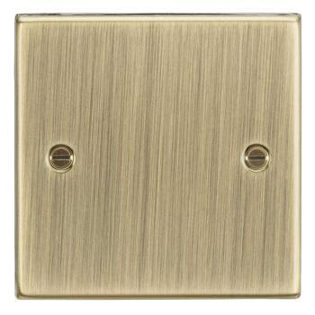 Antique Brass Blank Plates - Single 1 Gang