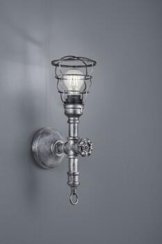 Antique Silver Gotham Vintage Wall Light  - Single