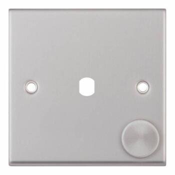Satin Chrome Empty LED Dimmer Switch - 1 Gang
