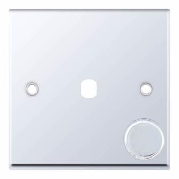 Polished Chrome Empty LED Dimmer Switch - 1 Gang Single Empty Plate