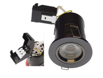 Black Nickel Fire Rated Downlight Fixed GU10 - Fitting Only