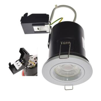 White Fire Rated Downlight Fixed GU10 - Fitting Only
