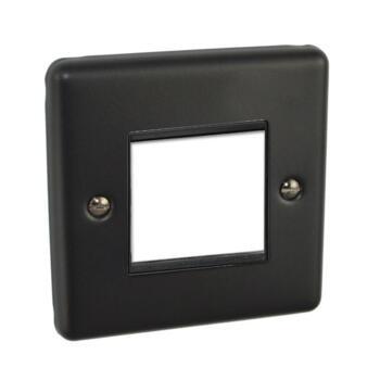 Matt Black Data Module Plate - Single