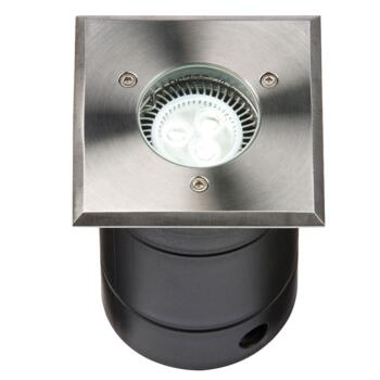 Square IP67 100mm Walk / Drive Over Ground Light - Fitting