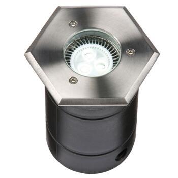 Hexagonal IP67 115mm Walk/Drive Over Ground Light - Fitting