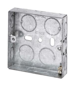 16mm Single Metal Backbox - Single Backbox