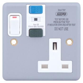 Metal Clad RCD single socket outlet - Metal Clad