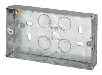 25mm Double Metal Backbox - Double Backbox