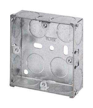 25mm Single Metal Backbox - Single Backbox