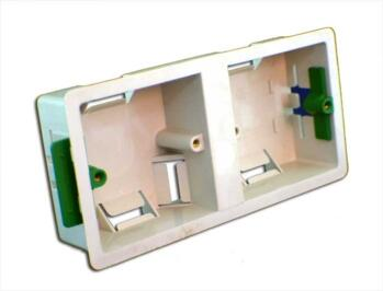 35mm Dual Accessory Plasterboard Backbox - Dual Backbox