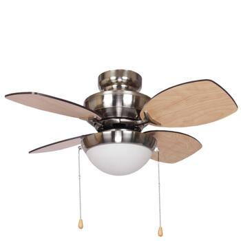 "Fantasia Kompact Small Br Nickel Ceiling Fan 28"" - 115557"