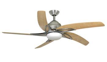 """Fantasia Viper Ceiling Fan S/S Dark Oak 54/44"""" - 54"""" (1370mm)"""