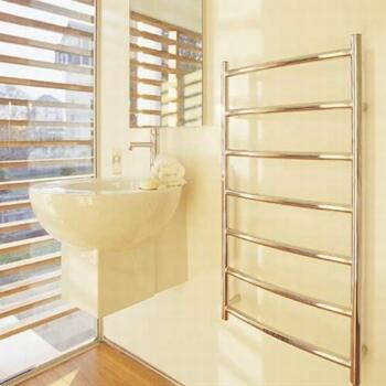Consort 7 Rung Ladder Towel Rail - Chrome - 65W