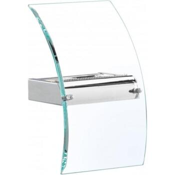 LED Wall Bracket Bevelled Curved Glass Chrome  - 4115-LED