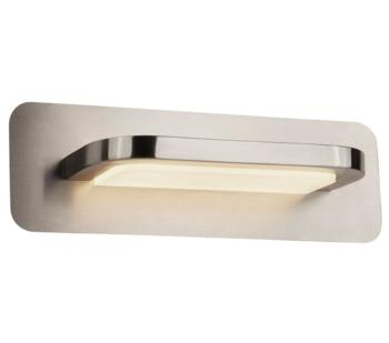 LED Wall Light Satin Silver With Frosted Glass  - 4461SS