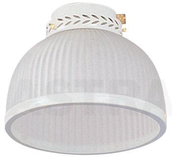 Fantasia Dome Ceiling Fan Light Kit - Gloss White