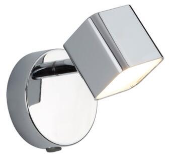 Quad 1 Light LED Chrome Square Head Wall Spotlight  - 4231CC Warm White 3000K