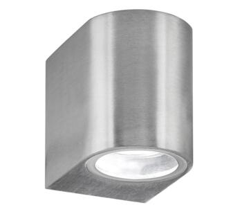 1 Light Outdoor LED Wall Light, Satin Silver Finish - 8008-1SS-LED