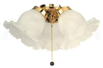 Fantasia Etched Ceiling Fan Light Kit - Polished Brass