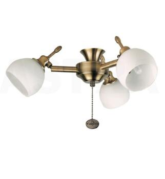 Fantasia Florence Ceiling Fan Light Kit - Antique Brass