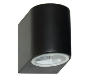 1 Light Outdoor LED Wall Light  Black Finish - 8008-1BK-LED
