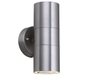 2 Light Outdoor Wall Light  Stainless Steel Finish - 5008-2-LED