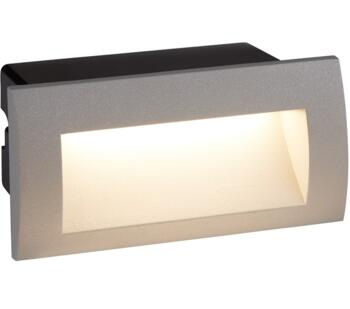Ankle Recessed LED Wall/Ceiling Light Grey Finish - 0662GY - 0662GY