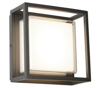 Ohio Flush Dark Grey Outdoor Wall Light   - 3812GY-3000