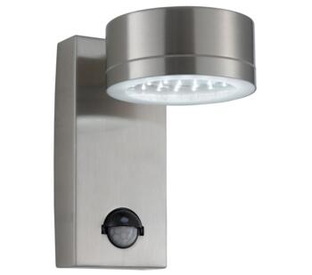 1 Light Outdoor PIR LED Wall Light  Stainless Steel Finish - 9550SS - 9550SS