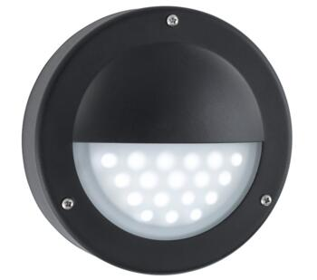1 Light Outdoor LED Wall Light  Black Finish - 8744BK - 8744BK