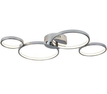 Solexa 4 Ring LED Flush Chrome Ceiling Light  - 2004-4CC