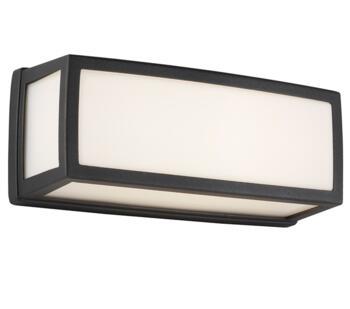 Washington Rectangular Dark Grey Outdoor LED Wall Light - LED Cool White 4000K  6397GY