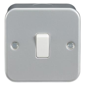 Metal Clad 10AX 2 Way Switches - Single 1 Gang