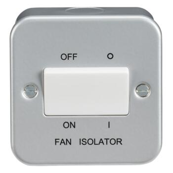Metal Clad 10AX Fan Isolator Switch - 3 Pole