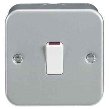 Metal Clad 20A 1G DP Switch - Single 1 Gang