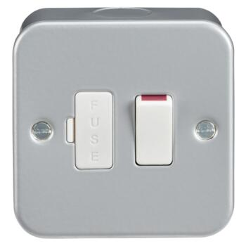 Metal Clad 13A Fused Spur Unit - Switched