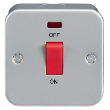 Metal Clad 45A Cooker Switches - Single Size