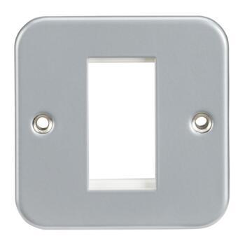 Metal Clad Modular Data Faceplates - Single 1 Module