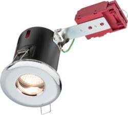 230V IP65 GU10 IC Fire-Rated Shower Downlight Chrome - VFRSHGICC