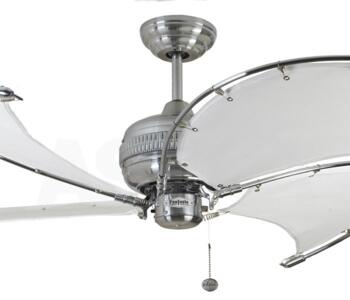 """Fantasia Spinnaker 40"""" Ceiling Fan - S/Steel - White"""