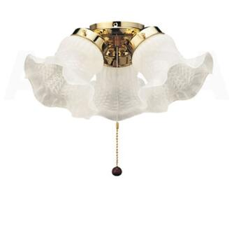 Fantasia Tulip Ceiling Fan Light Kit - Polished Brass