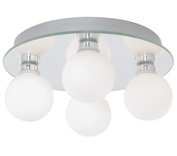 Global 4 Light Bathroom  Chrome Ceiling Light  - 4337-4-LED