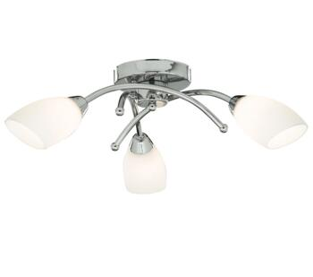 3 Light LED Chrome Bathroom Ceiling Light - 4483-3CC-LED
