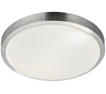 Flush LED Bathroom Ceiling Light Aluminium/White - 6245-33-LED