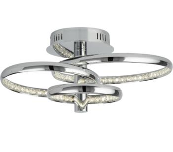 Rings 3 Light Flush LED Chrome Ceiling Light   - 3133-3CC