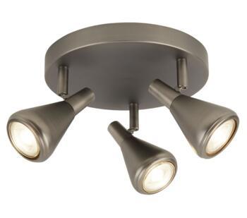 Tinley 3 Light Triple Spotlight Antique Silver Finish - 7243-3AS