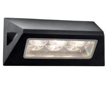 Outdoor LED Wall Light  Black Aluminium Finish - 5513BK