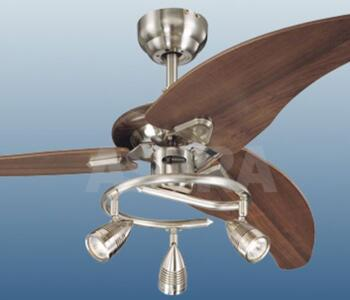 Westinghouse Elite Ceiling Fan With Light 48 Brushed Nickel And Weathered Maple
