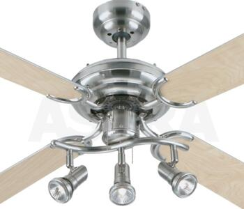 Apollo bullet ceiling fan with light 42 stainless steel westinghouse apollo bullet ceiling fan with light 42 stainless steel aloadofball Image collections